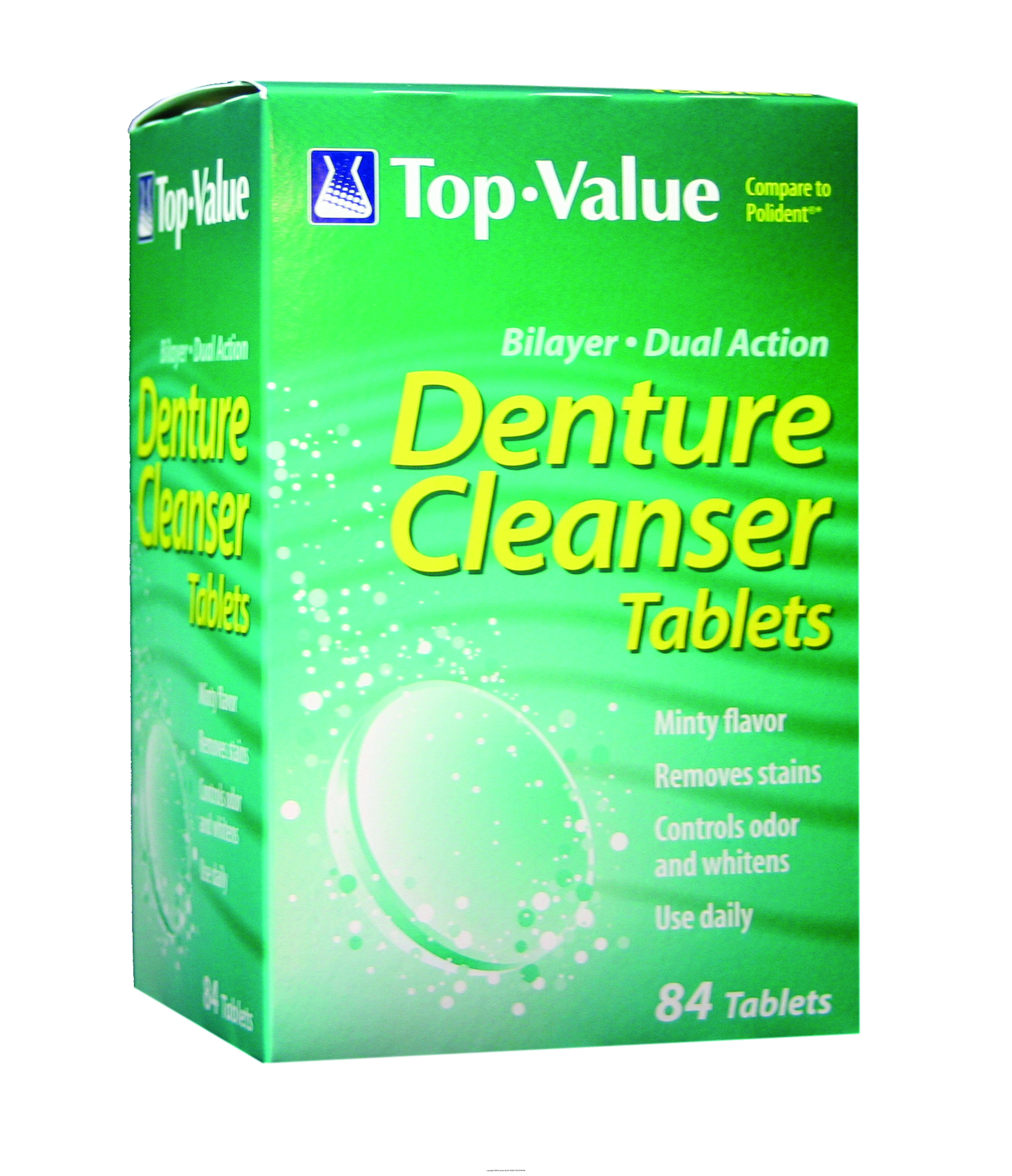 Polident Denture Tab 84ct Top Value Zoom