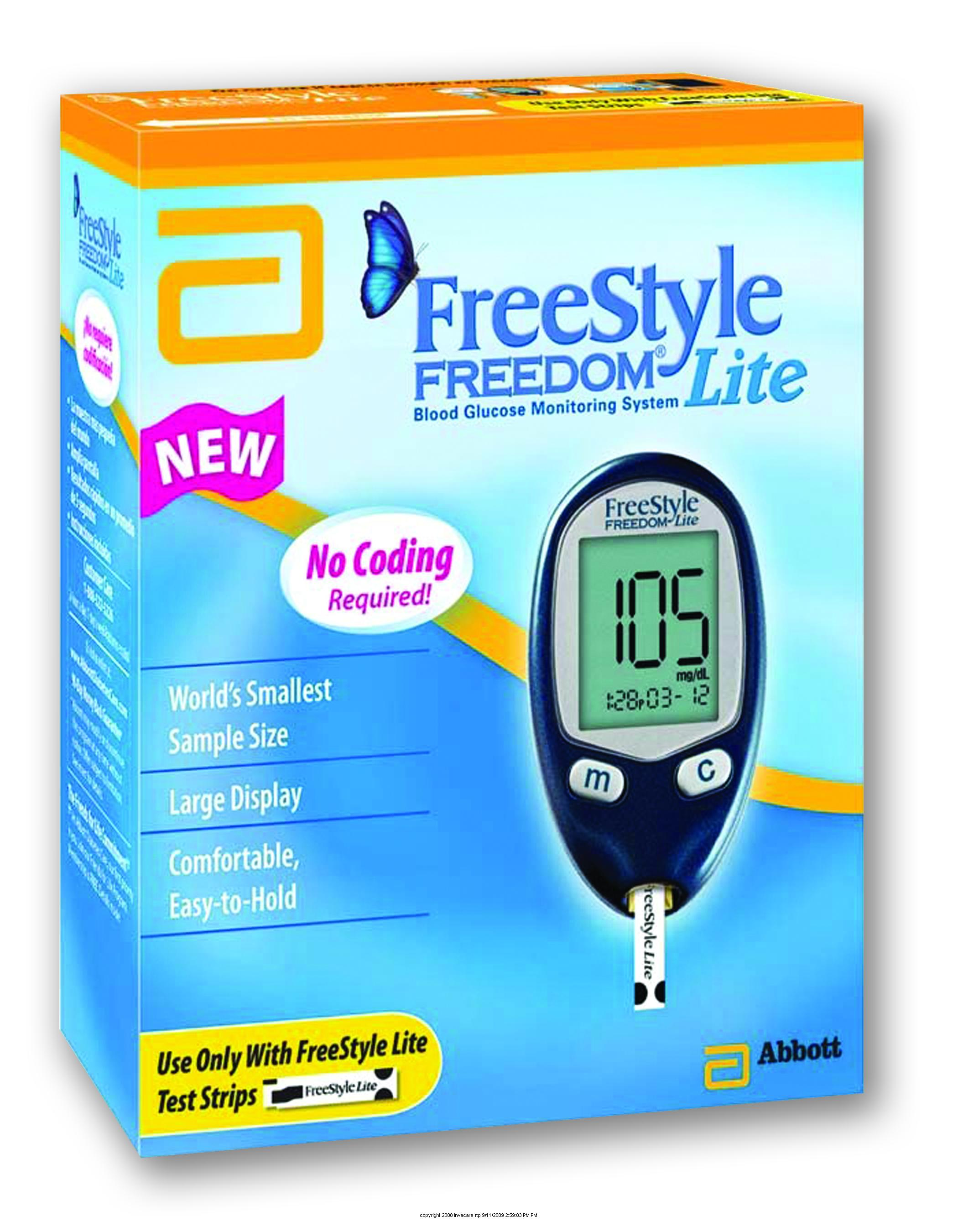 freestyle freedom lite blood glucose monitoring system instructions