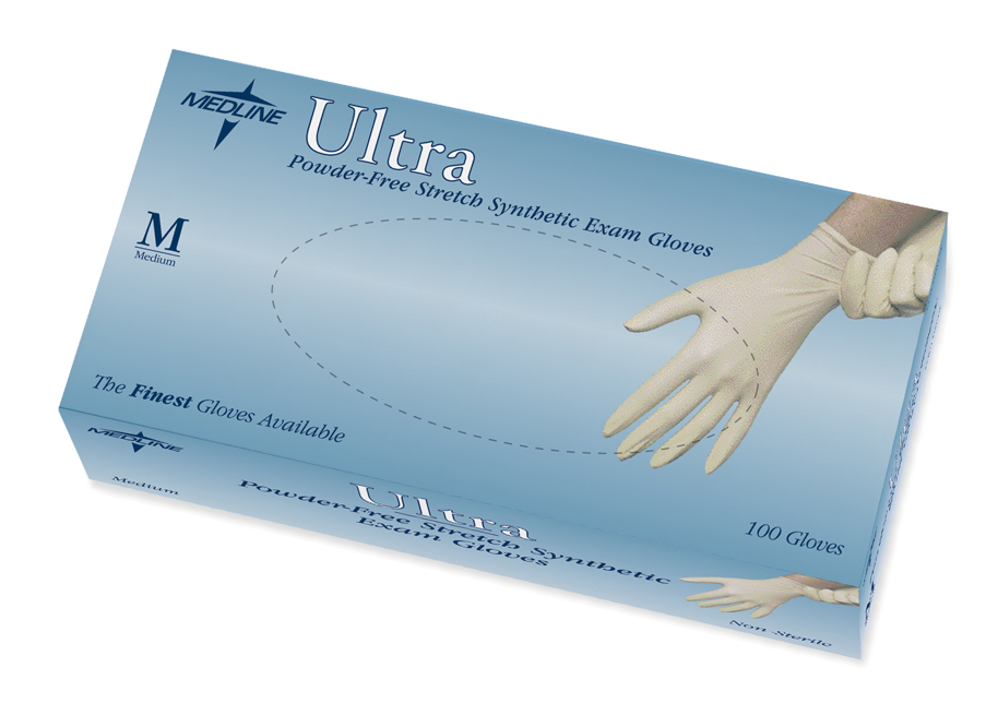 Ultra Powder Free Stretch Synthetic Exam Gloves Latex