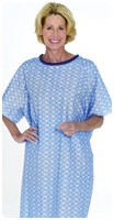 SNAPWRAP PATIENT GOWN, BLUE MARBLE, ONE SIZE