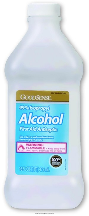 Good Sense 70% Isopropyl Rubbing Alcohol, Rubbing Alcohol 70Pcnt 16oz, (1 CASE, 12 EACH)