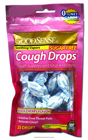 Sugar-free Black Cherry Cough Drops, Cough Drops Sgrfr Blk Chry 25, (1 EACH)