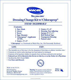 Central line dressing change kit with chloraprep ib drs for Photo dressing change