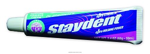 Staydent Denture Adhesive Cream 2.4oz Tube, Staydent Denture Adh Crm 2.-Ns, (1 EACH)