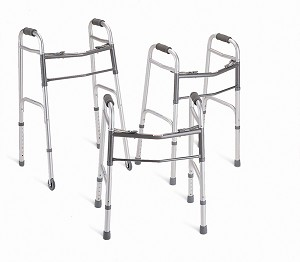 "Deluxe Junior Folding Walker w/ 5"" wheels (Case of 4)"