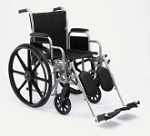 Excel K1 Wheelchair w/ Removable Arms and Detachable Elevating Legrests (18
