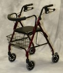 Deluxe Rollator w/ Curved Back