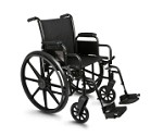 Excel K3 Lightweight Wheelchair w/ Removable Desk Length Arms and Detachable Footrest (16