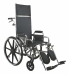 Excel Recliner Wheelchair w/ Removable Desk Length Arms and Elevating Legrests (18inblack)