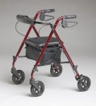 Ultralight Rollator, Burgandy