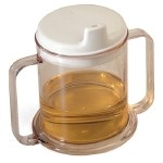Transparent Mug with Two Handles Replacement Lid