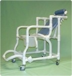 Narrow Reclining Shower/Commode Chair With Pail