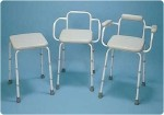 Sherwood Adjustable Stool Adjustable Stool with Back and Armrests