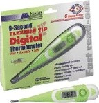 DIGITAL FLEXIBLE TIP THERMOMETER,9 SEC READING