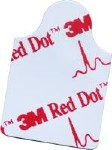 RED DOT RESTING ELECTRODE-TAB STYLE, 100/BAG