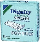 DIGNITY SUPER NATURAL SELF ADH PADS, PKG OF 25