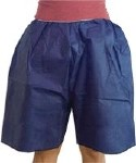 DISPOSABLE UNI-SIZE SHORTS, DARK BLUE