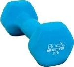VINYL DUMBBELL 3LB, LATEX-FREE