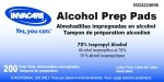 Invacare Alcohol Prep Pads, Ib Alcohol Prep Pads Md, (1 BOX, 200 EACH)