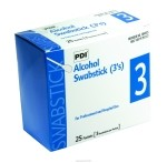 PDI Alcohol Swabsticks - 3's, Alcohol Swabsticks 3S, (1 BOX, 75 EACH)