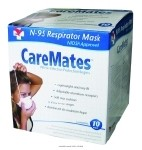CareMates Cone Style N95 Mask, N95 Mask Cone Style -Ns, (1 CASE, 120 EACH)