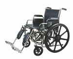 Excel Heavy Duty Wheelchair w/Removable Arms and Detachable Elevating Legrests (22