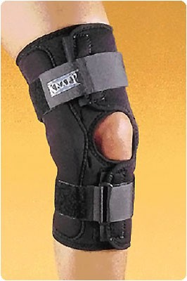 "Knapp Hinged Knee Brace. Size: X-Small, Dimensions: 12"" Long, Knee Circum.: 12""-13"""
