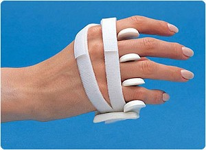 LMB Soft Core Wire-Foam Ulnar Deviation Splint, Left Size: Avg. Female, S Male 2&7/8