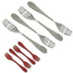 Knork Stainless Steel and Plastic Utensils - Plastic Set of 4