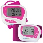 Women's Automatic Digital Blood Pressure Monitors - Wrist: Cuff Size: 53/8�-7-5/8� (13.65cm - 18.73cm). Includes 2 AAA batteries and case
