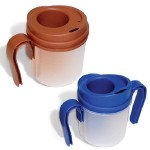 PROVALE Regulating Drinking Cup 5cc Dispenser - with two removable handles - Blue
