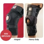 exP Heavy Duty Knee Supports - Hinged, Medium/Large, Knee Circ: 14.5