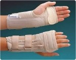 Rolyan D-Ring Wrist Brace with MCP Support D-Ring Wrist Brace with MCP Support, Left Size: S 5¾