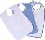 ADULT BIB, BLUE TERRY CLOTH, WASHABLE, 21