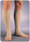 RELIEF-EXTRA LARGE KNEE HIGH,OPEN TOE,BEIGE,30-40