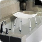 EASY CARE SHOWER STOOL, UNASSEMBLED (RETAIL)