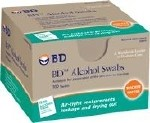 ALCOHOL SWABS, 100 FOIL WRAP WIPES/BOX