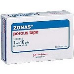 ZONAS Porous Athletic Tape, Rubber Based Adhesive, Cotton Cloth Backing, Porous Construction 1