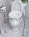 3 IN 1 ALL PURPOSE COMMODE, 250 LBS, 19