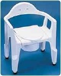 DELUXE COMPOSITE COMMODE, 300 LB. CAPACITY, 2/CASE