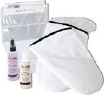 HAND COMFORT KIT, 2 MITTS, 100 LINERS, CREAM,SPRAY