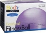 FITNESS BALL, 45 CM, PURPLE, SLOW AIR RELEASE